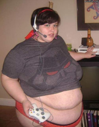 fat gamer x box